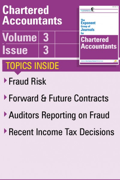 Chartered Accountants – Volume 3 – Issue 3