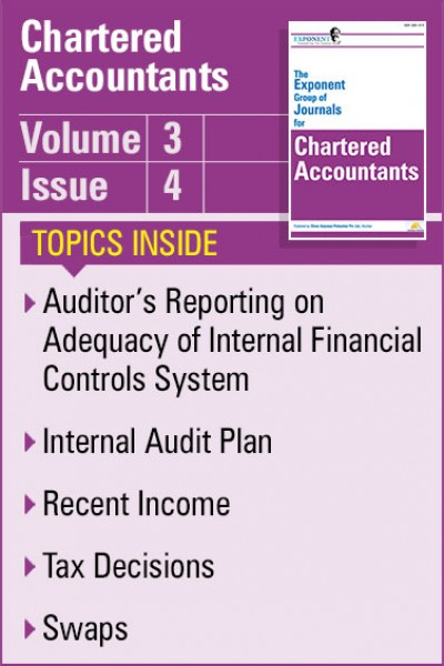 Chartered Accountants – Volume 3 – Issue 4